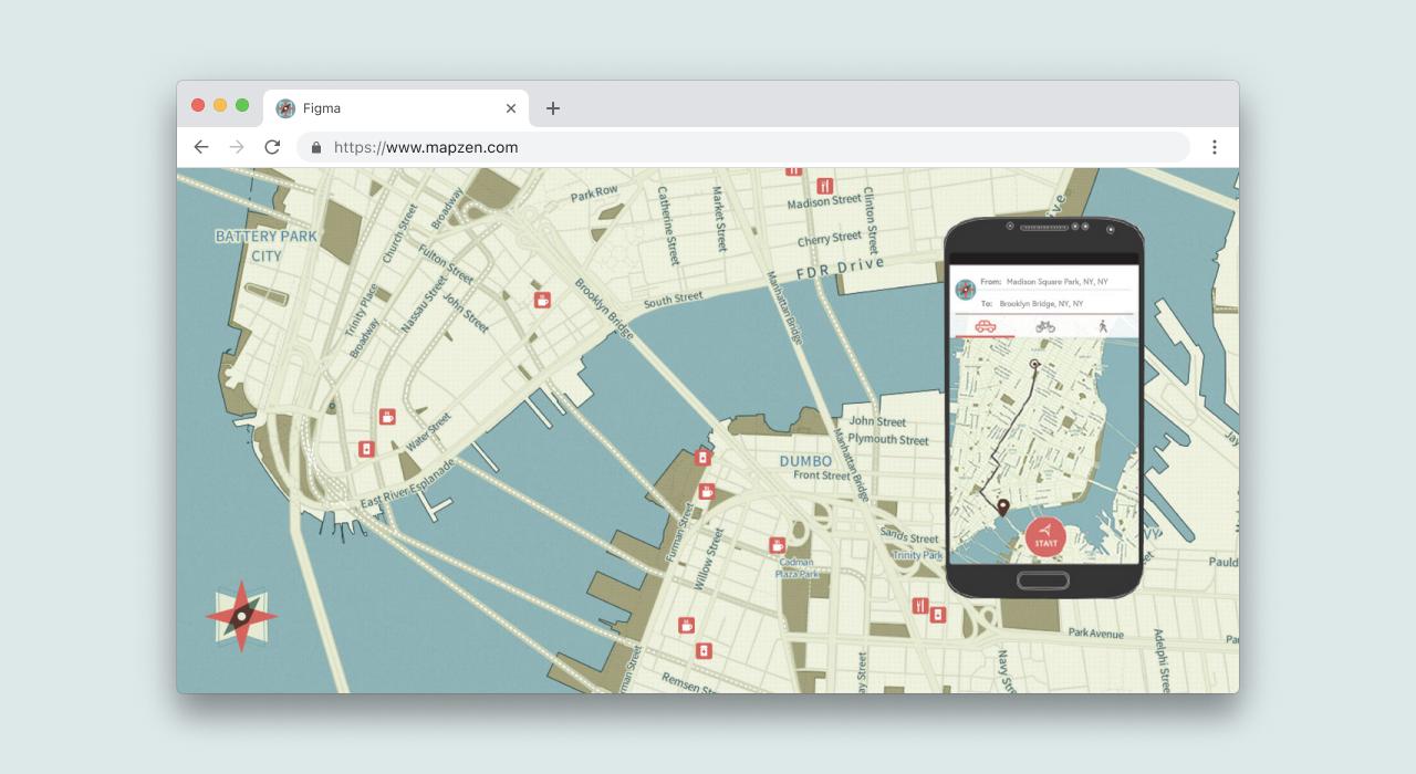 Mapzen UI Design